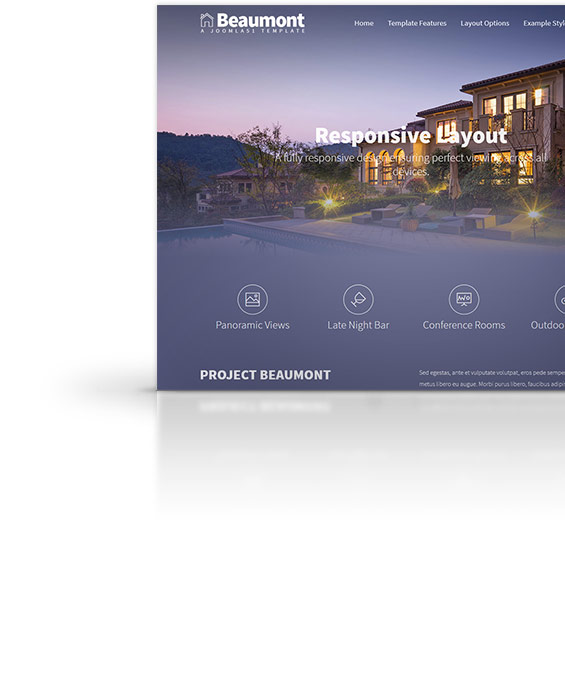 Beaumont Joomla Template