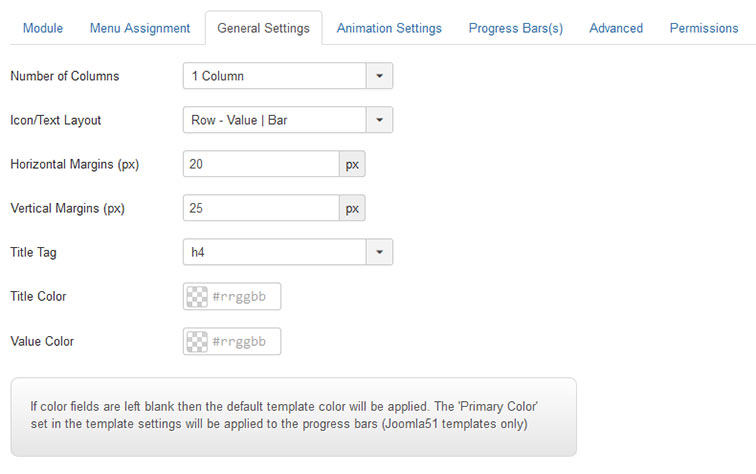 Joomla Progress Bars - General